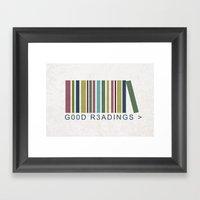 Good Readings are priceless Framed Art Print