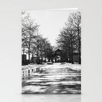 Piers Park In Winter Stationery Cards