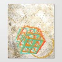 Geometric Grunge One Canvas Print