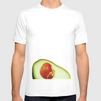 Avocado Mens Fitted Tee White SMALL