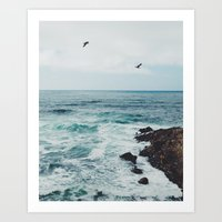 Sea Blue Art Print