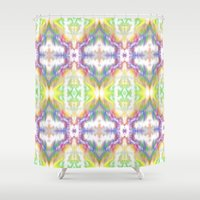 Tie Dyed Impression Shower Curtain