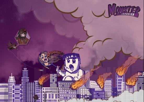Monster invasion Art Print