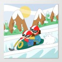 Winter Sports: Bobsleigh Canvas Print