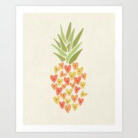My Pineapple Valentine Art Print