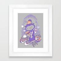 Tea Monkey Tea Party Framed Art Print