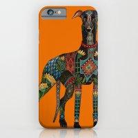 greyhound orange iPhone 6 Slim Case