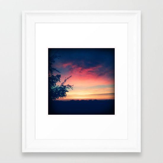 An Arizona Sunset Framed Art Print