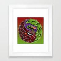 spider yin yang Framed Art Print