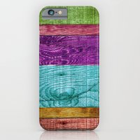 Colorful Wood  iPhone 6 Slim Case