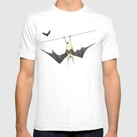bat Mens Fitted Tee White SMALL