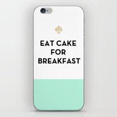 Eat Cake For Breakfast -… iPhone & iPod Skin