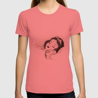 Snow White Womens Fitted Tee Pomegranate SMALL