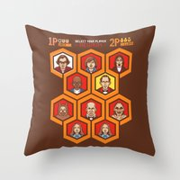 8 Bit Shining Throw Pillow