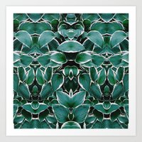 50 Shades Of Green (8) Art Print