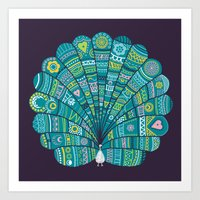 Peacock At Noon Art Print