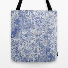 Crow Pattern Tote Bag