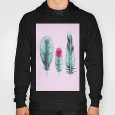 Watercolor feathers (pink) Hoody