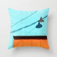 Electric Aqua Building O… Throw Pillow