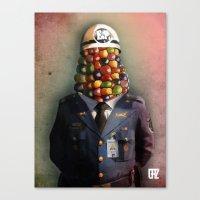 CHAPA CHOCLO (policemen) Canvas Print