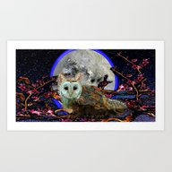 Owl Griffin Art Print