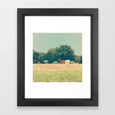 sunny colors Framed Art Print