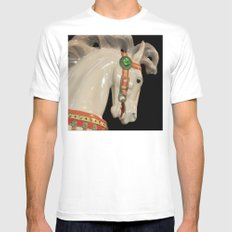 Carousel Horse Mens Fitted Tee White SMALL