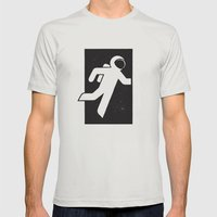Space Exit Mens Fitted Tee Silver SMALL