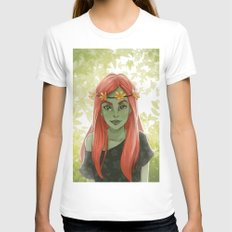 Poison Ivy Womens Fitted Tee White SMALL