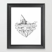 Froth Monster Framed Art Print