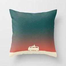 Quiet Night - Starry Sky Throw Pillow