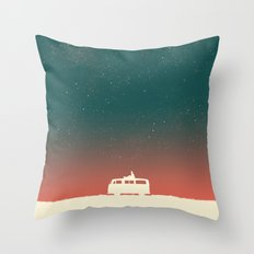 Quiet Night - starry sky Throw Pillow