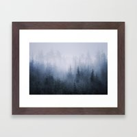 Misty fantasy forest. Framed Art Print