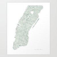 Manhattan NYC Art Print