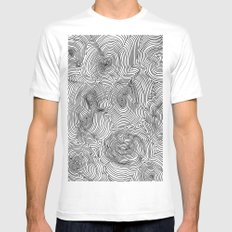 Contours Mens Fitted Tee White SMALL