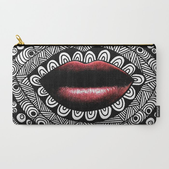 tangled lips mandala pouch bag clutch wallet pencil case makeup