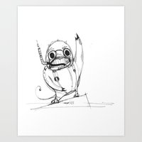 Spacedragon Art Print