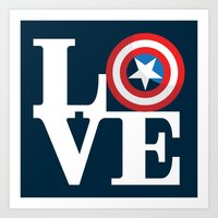 Captain's Love Art Print