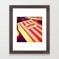 Popcorn, Get Your Popcorn Here!!! Framed Art Print