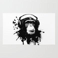 Monkey Business - White Rug
