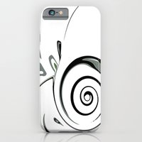 iPhone Cases featuring Gray with Green by Jessielee