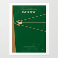 No237 My Robin Hood minimal movie poster Art Print