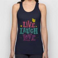 Live Laugh Love Unisex Tank Top