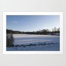 Snowy Lake Art Print