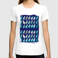 MINERAL CATTERN Womens Fitted Tee White SMALL