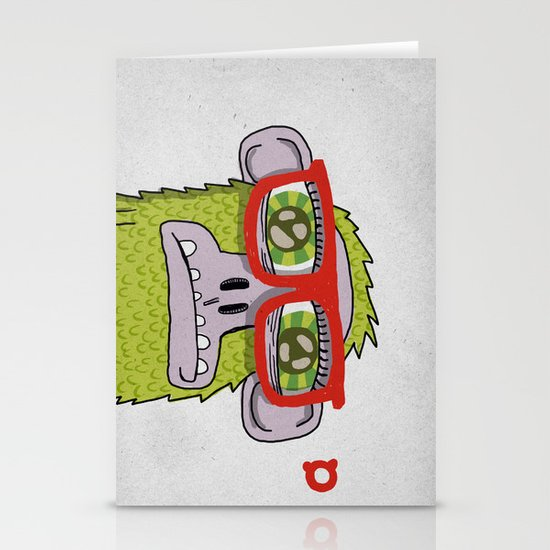 005_monkey glasses Stationery Card