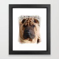Worry Wrinkles Framed Art Print