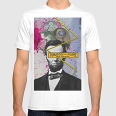 Public Figures -  Lincoln SMALL Mens Fitted Tee White