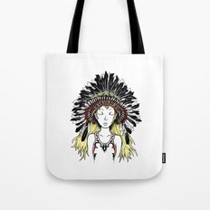 Native American Girl (colored) Tote Bag