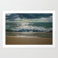Just Me And The Sea Art Print